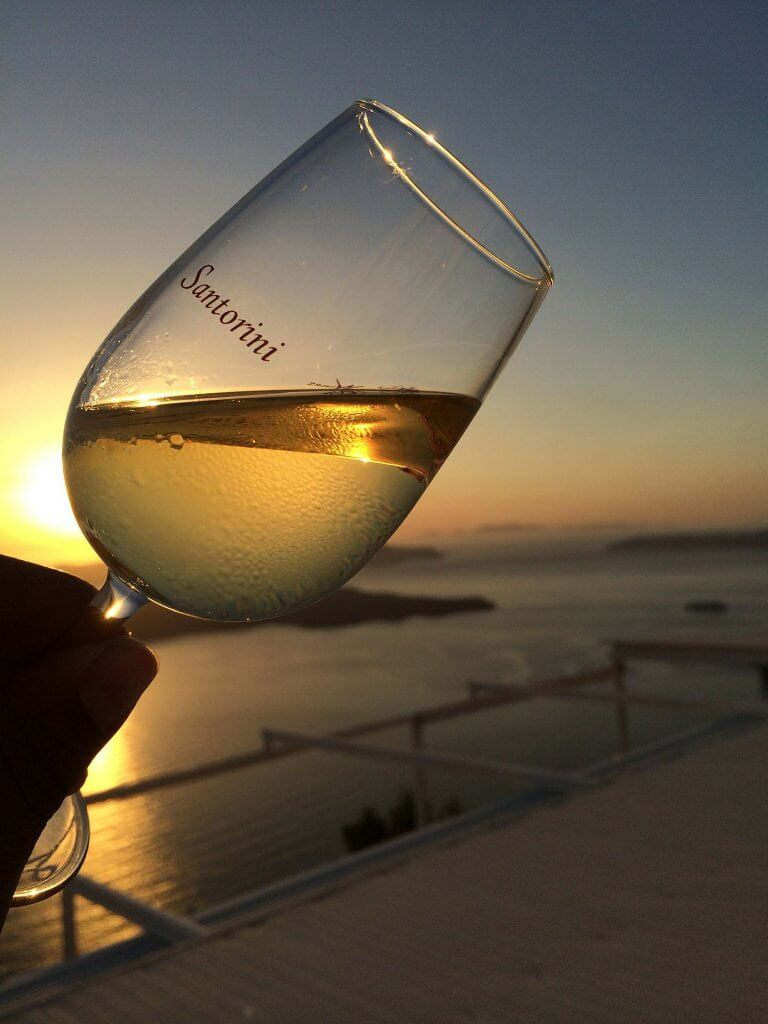 vino in grecia - santorini